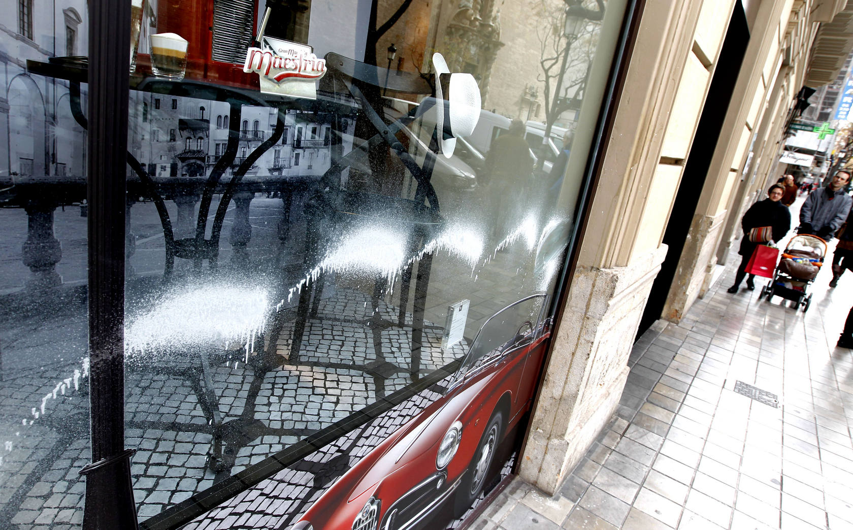 Vandalismo en comercios de Valencia