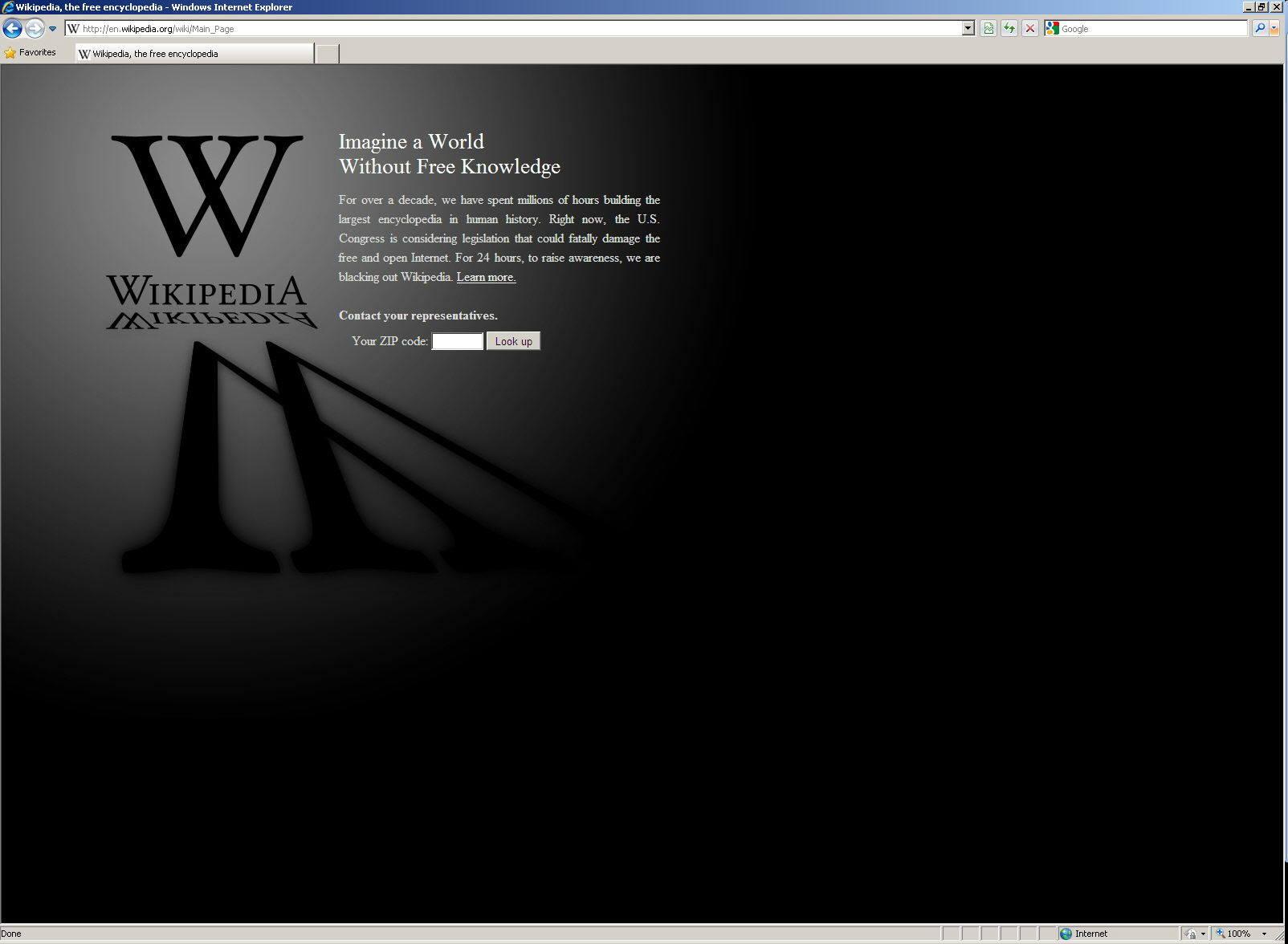 Apagón digital anti SOPA