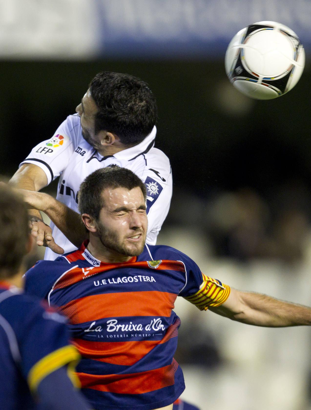 Partido entre el Valencia CF y el Llagostera