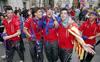 Los granotas toman Valencia en la celebración del ascenso