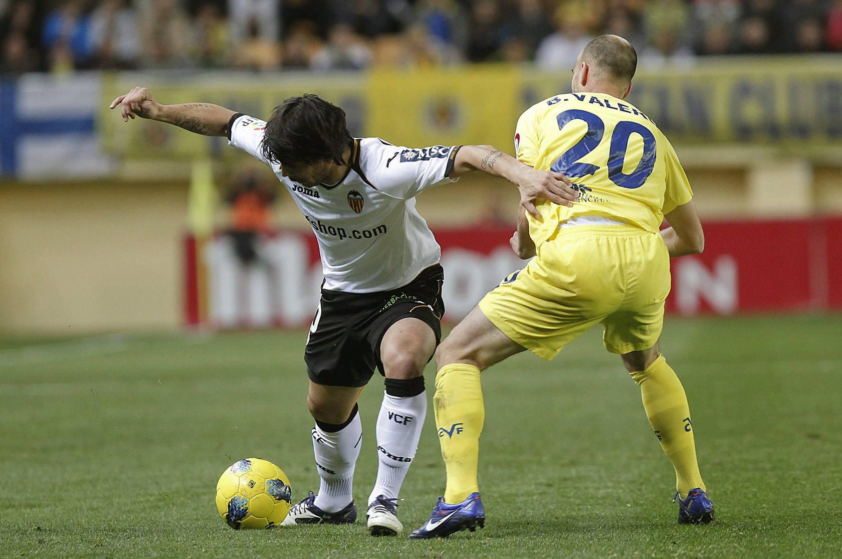 Partido de Liga entre el Valencia y el Villarreal
