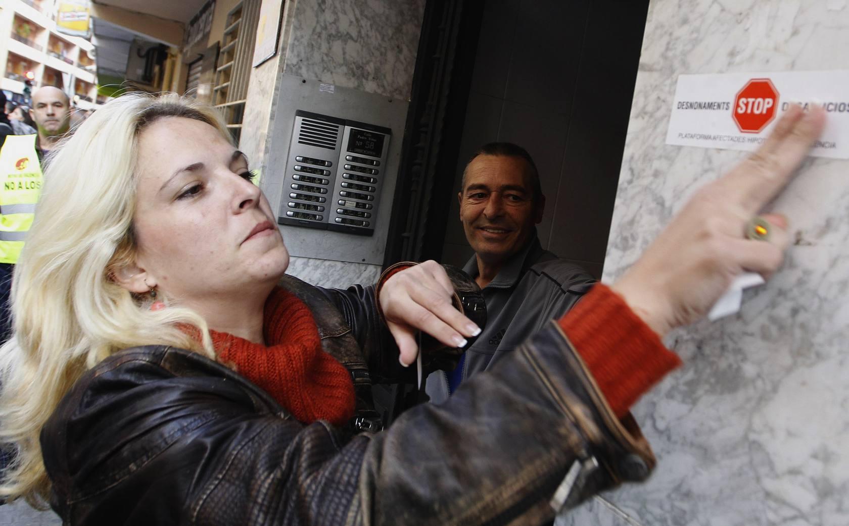 Frenado un desahucio en Valencia