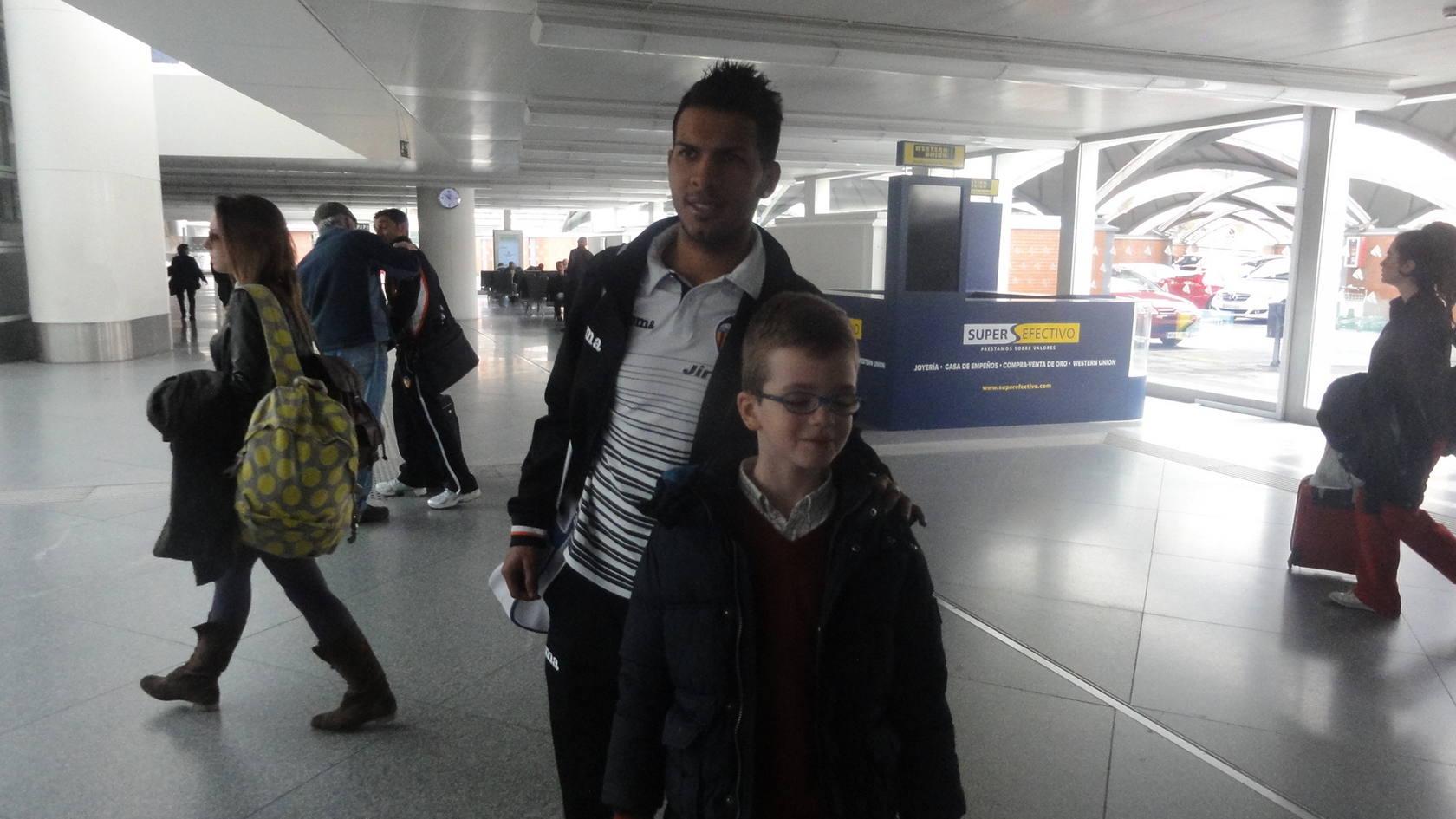 El Valencia llega en AVE a Madrid