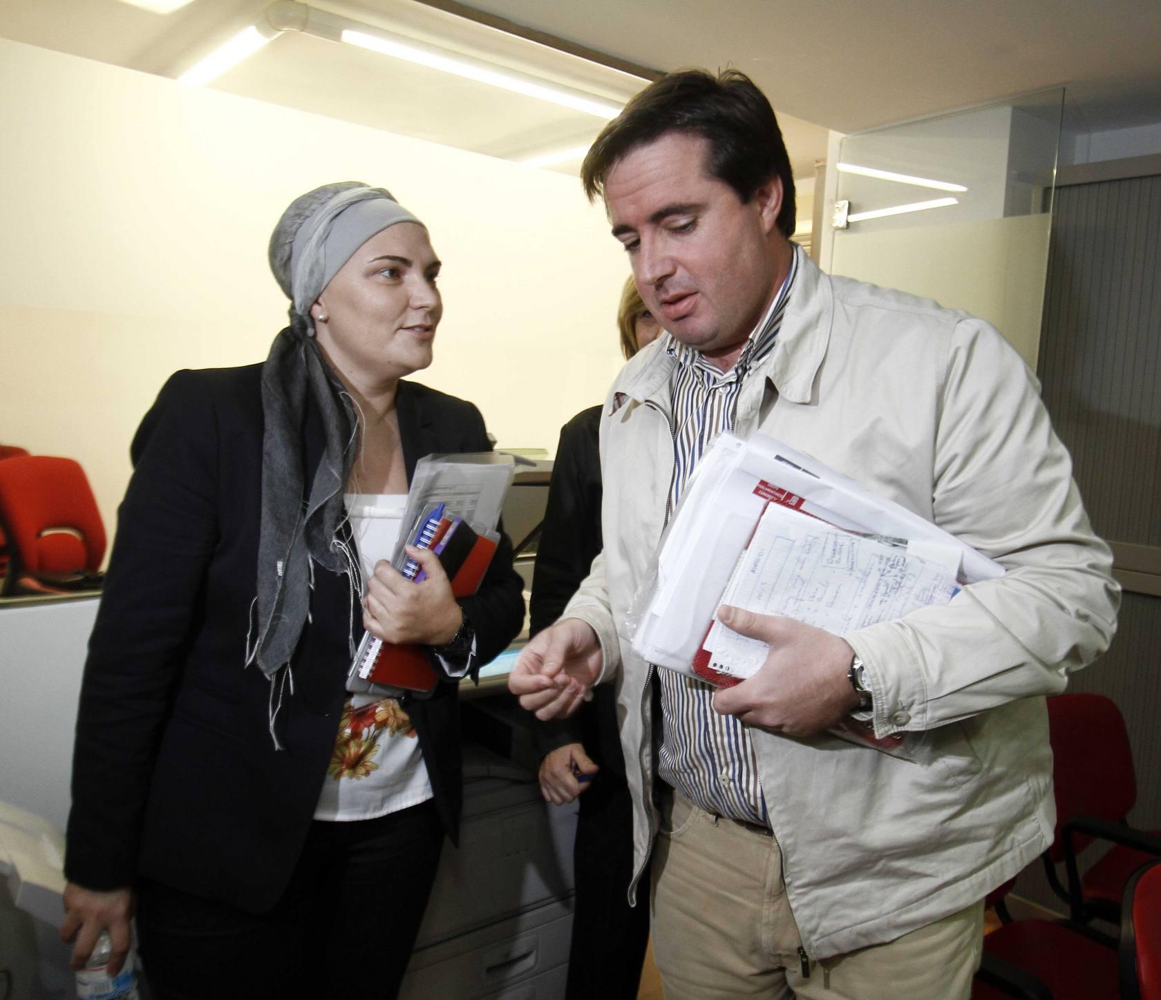 Rueda de prensa del socialista Herick Campos en Alicante