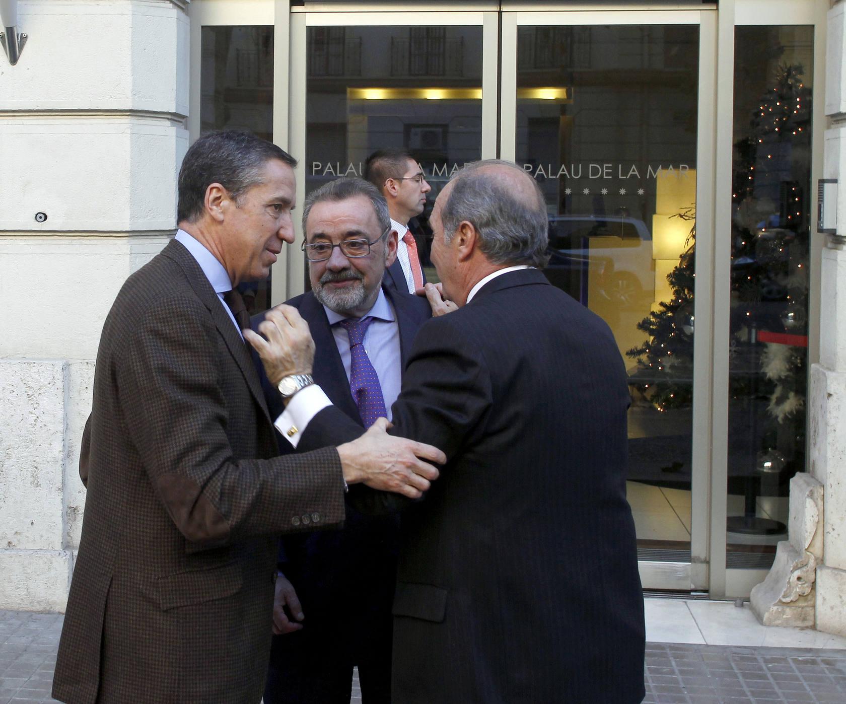 Eduardo Zaplana se reúne con Alberto Fabra y empresarios en Valencia