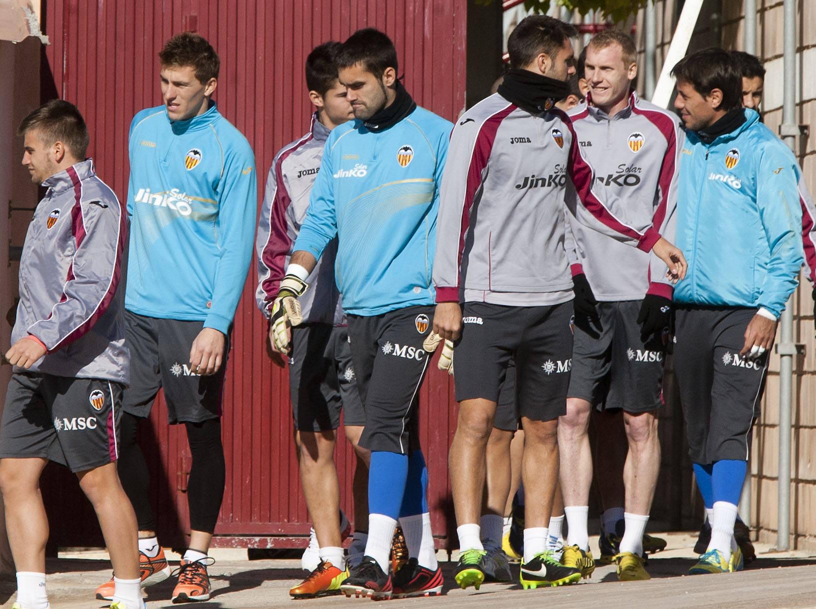 Entrenamiento del Valencia CF (13-2-12)