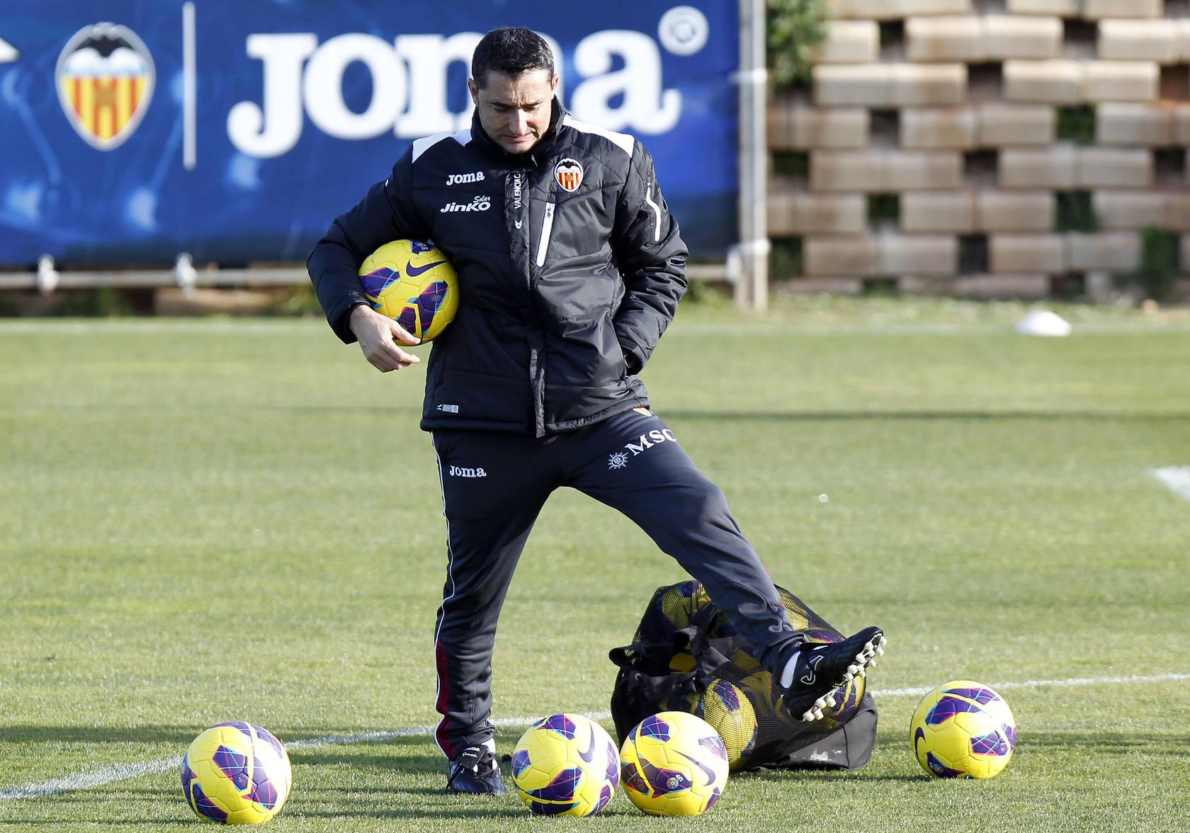 Primer entrenamiento del Valencia en 2013