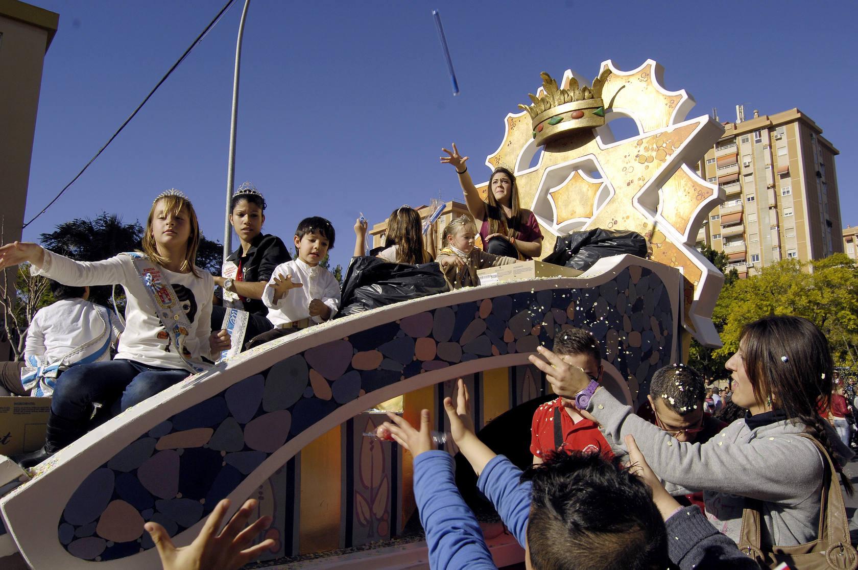 Cabalgata de los Reyes Magos en el barrio de Tómbola
