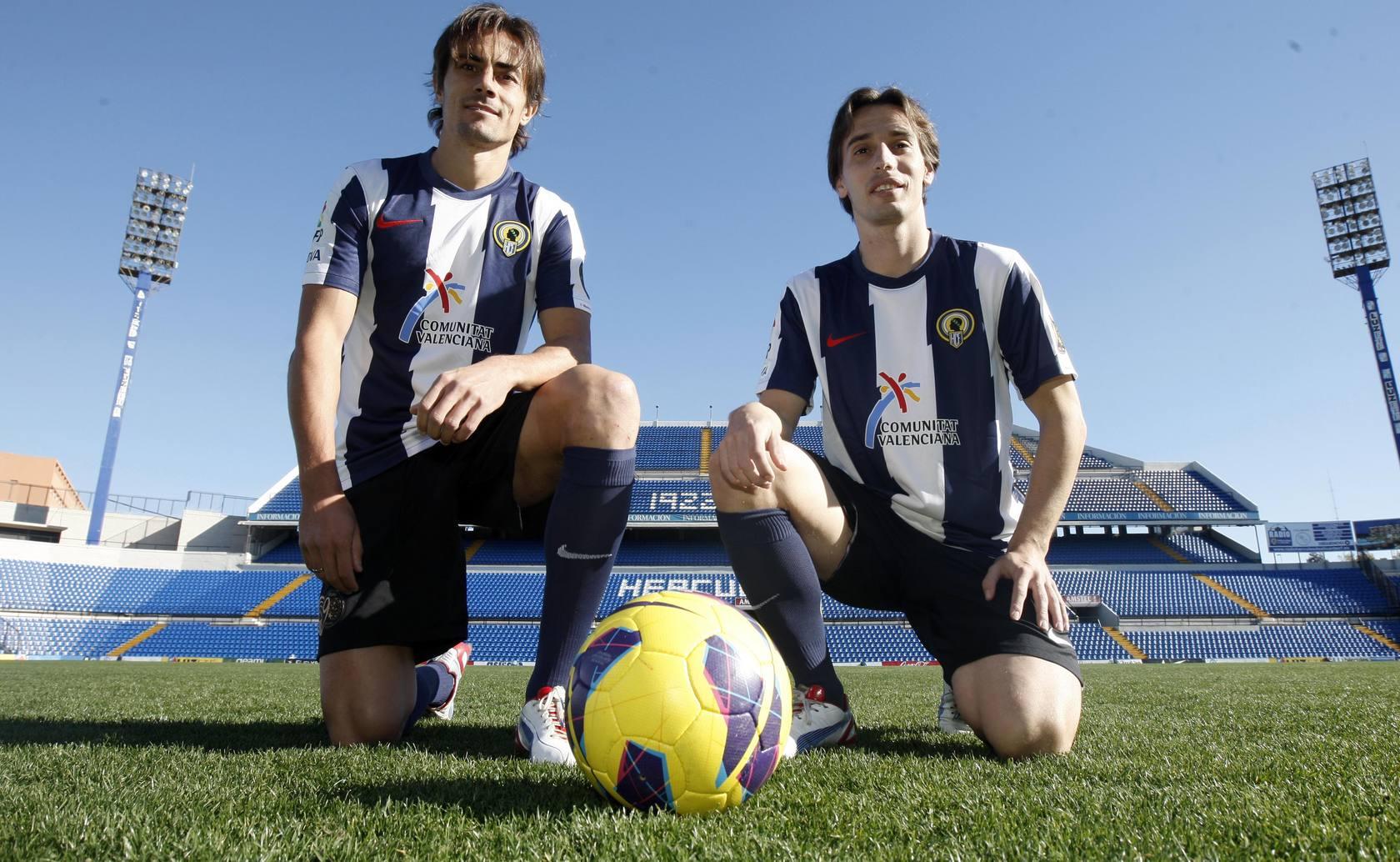 Presentación de David Cortés y Javito como nuevos jugadores del Hércules