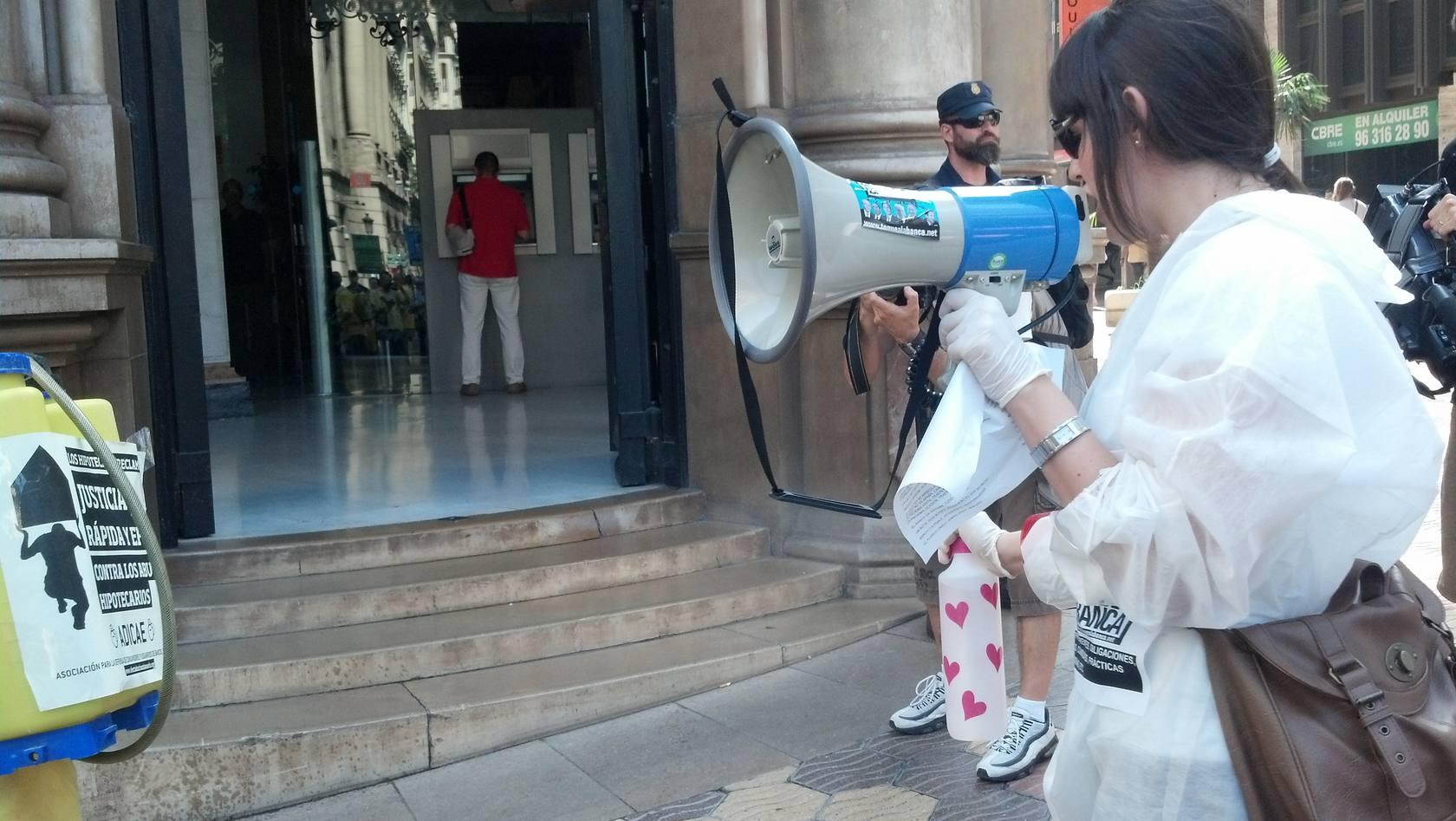 Fumigación en la banca valenciana