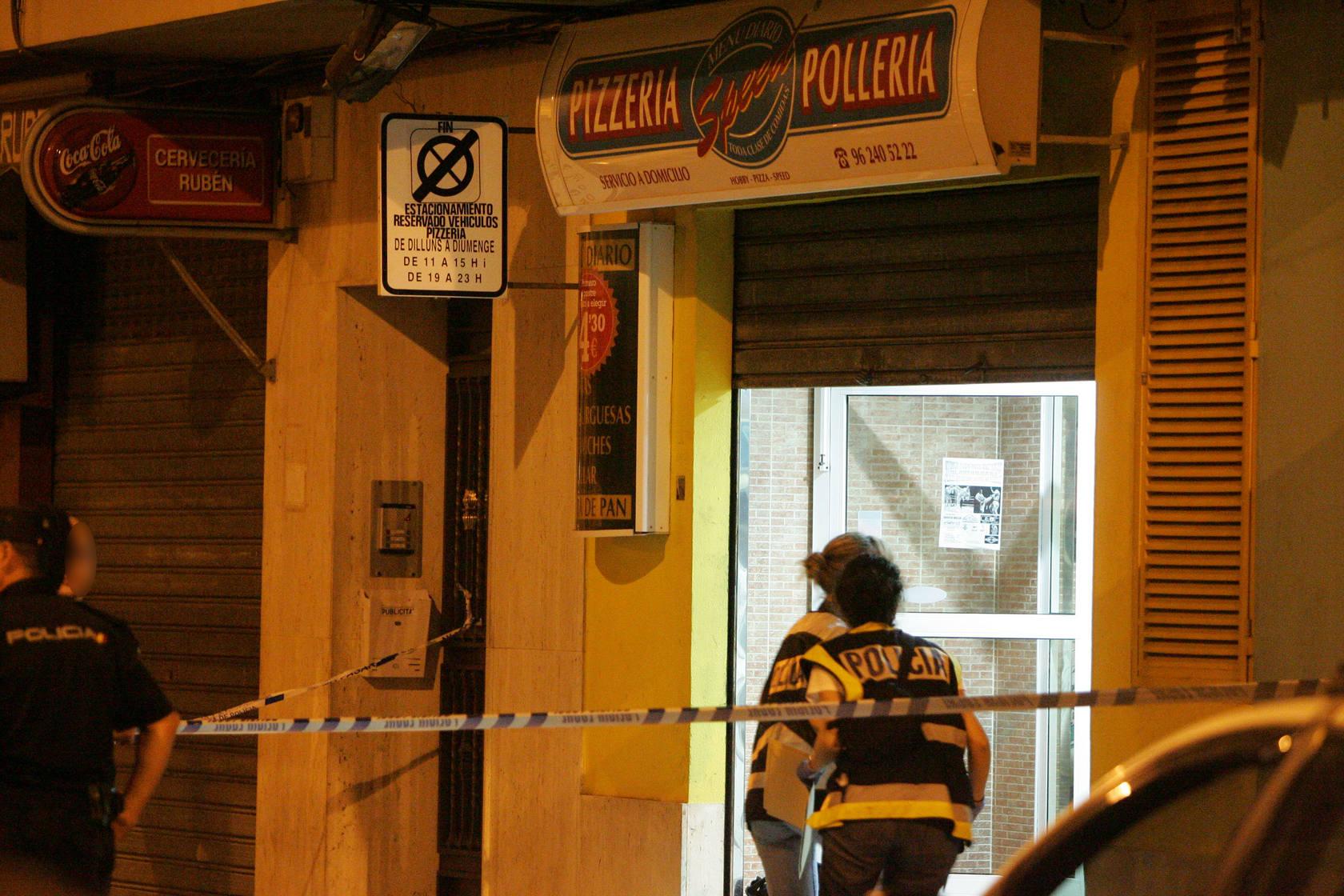 Atraco mortal en una pizzería de Alzira